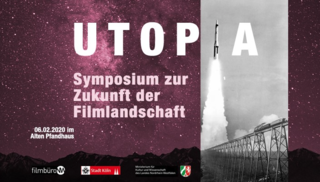 6.2.2020 Lecture Performance at UOPIA Symposium by Filmbüro NW, with Alisa Berger as duo BERGERNISSEN, Cologne